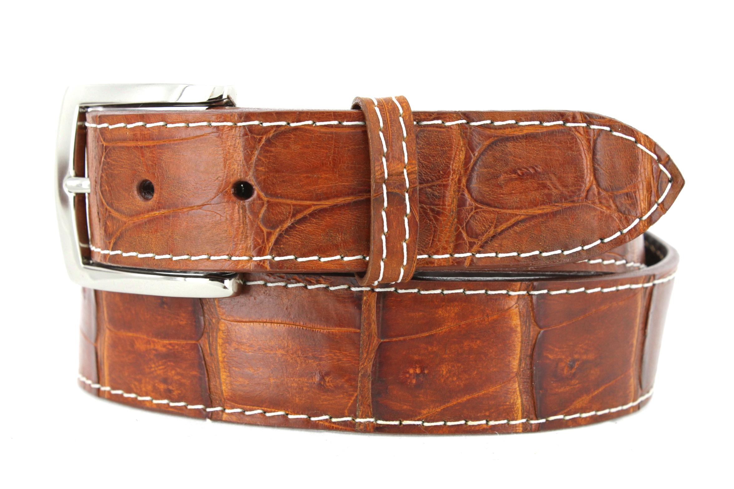 76a615a1f49 Handmade Genuine Crocodile Golf Belts