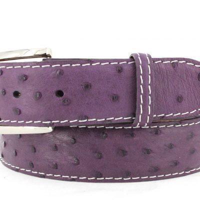 Purple Ostrich White Stitching