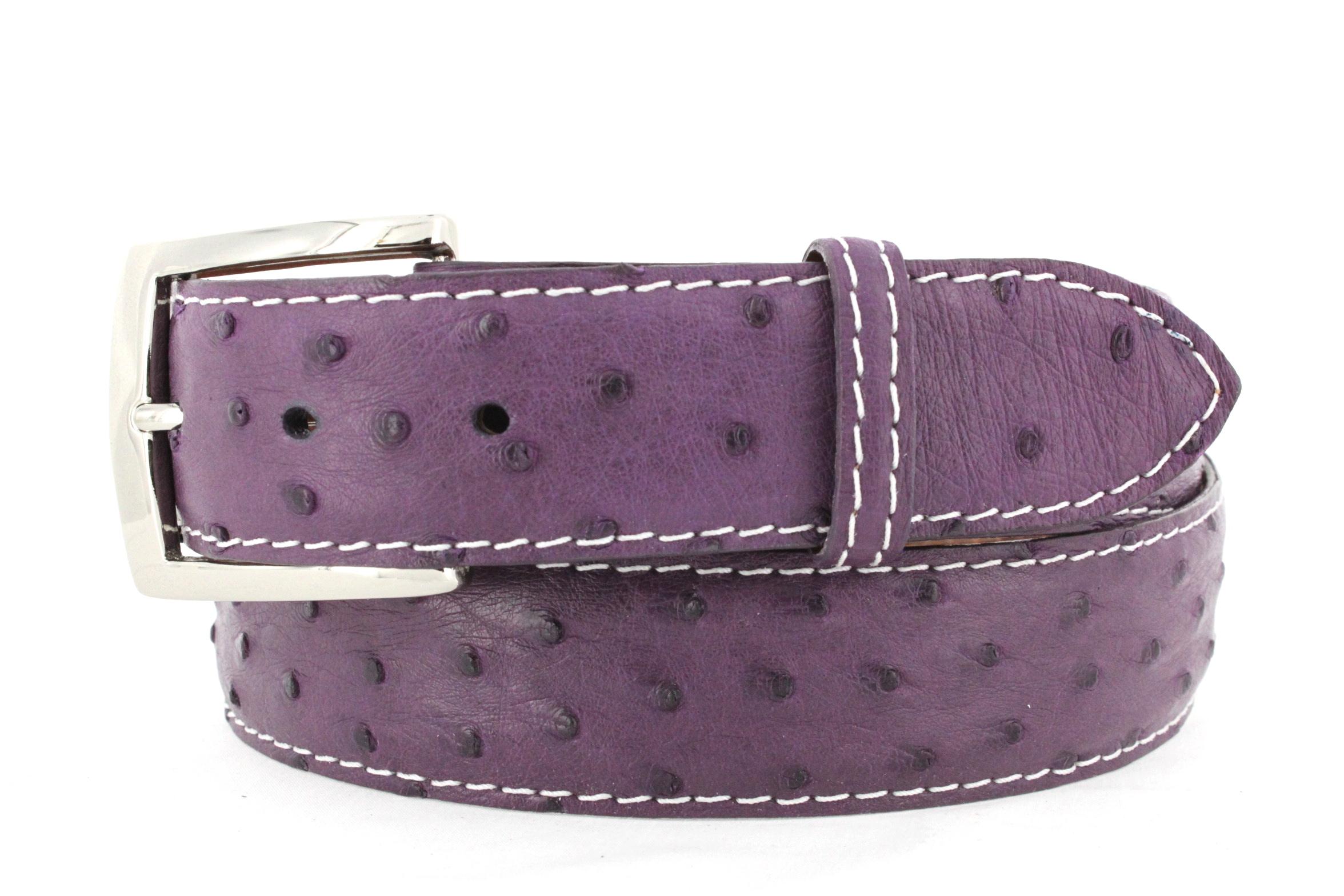 2a1e79b9a5f Purple Ostrich White Stitching