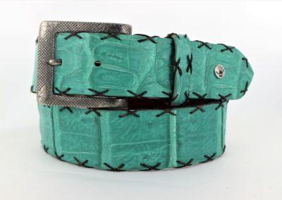 Aqua Cross Stitch Crocodile