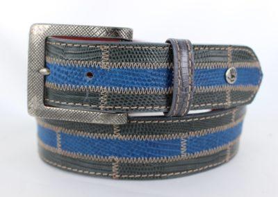Brick Lizard in Gray and Blue stripe