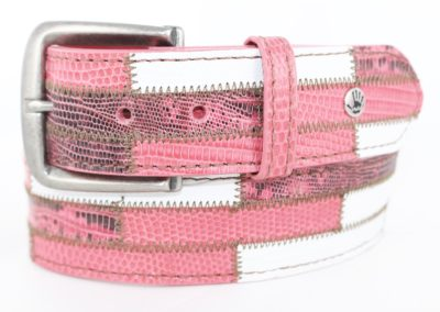 Brick lizard pink white