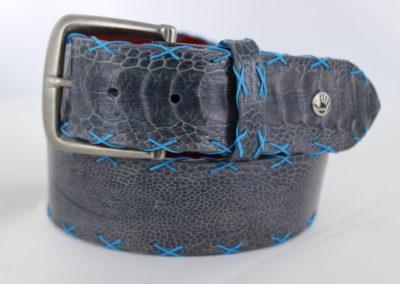 Ostrich leg with Tiffany Cross Stitch