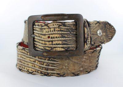 antique brown lizard cross stitch